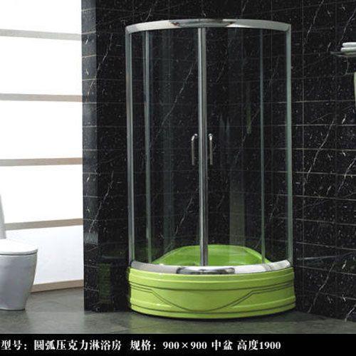 洁仕高卫浴-淋浴房系列圆弧压克力淋浴房