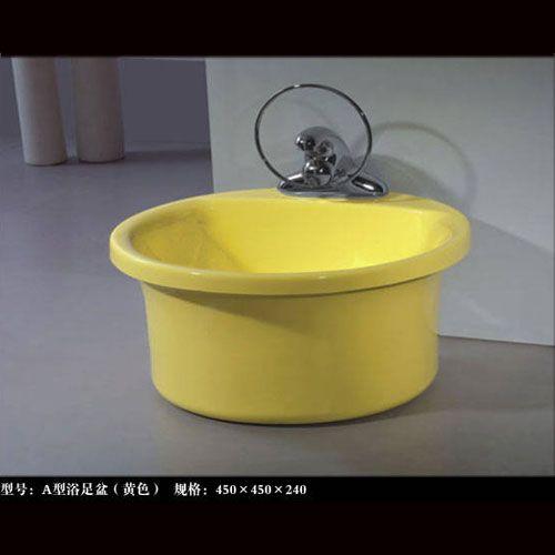 洁仕高卫浴-压克力A型浴足盆
