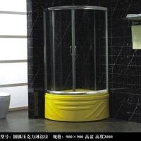 洁仕高卫浴-宾馆酒店洁具圆弧压克力淋浴房