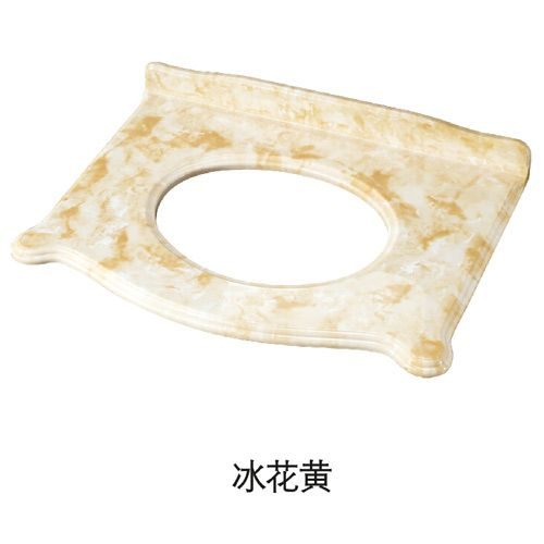 洁仕高卫浴-生态美纹石台面 冰花黄