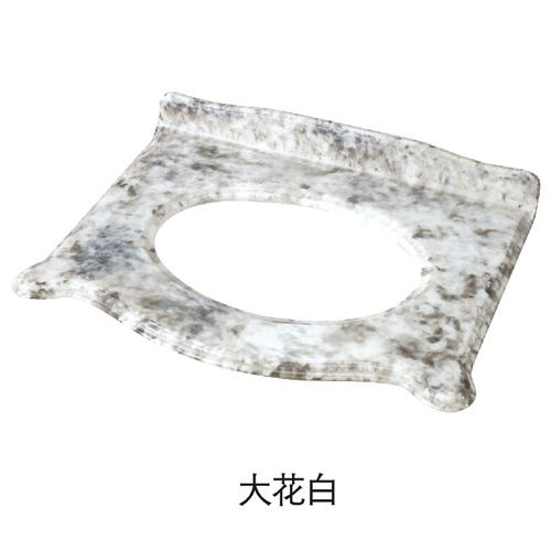 洁仕高卫浴-生态美纹石台面 大花白