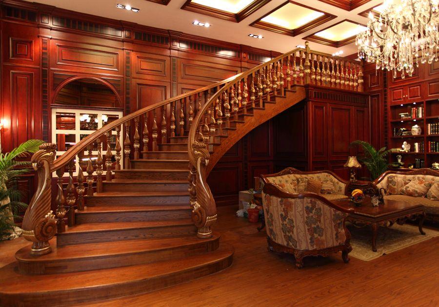 精品实木楼梯产品图片