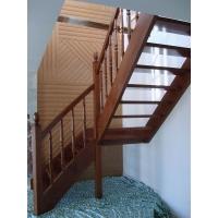 实木楼梯,双梁实木整梯