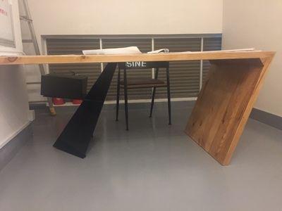 美式铁艺餐桌椅组合北欧餐桌实木家具办公老板桌餐厅小户型桌