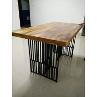 美老湿影院48试铁艺餐桌椅组合北欧餐桌实木家具办公老板桌餐厅小户型桌