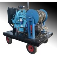 市政环卫柴油机驱动下水道疏通机下水道排污淤泥清洗机