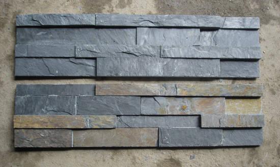 和瓷砖,木地板相比,天然板岩有以下特点:  一,装饰效果奇特,天然板岩
