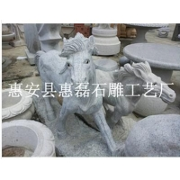 动物石雕雕刻 马匹园艺雕塑