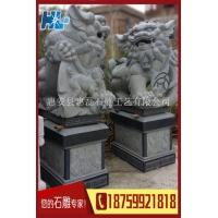 福建石雕狮子 惠安石雕厂家直销寺庙石雕狮子 园林