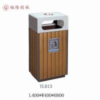 供应重庆钰隆园林设施环卫垃圾桶钢木结构果皮箱
