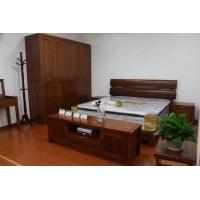 榆木双人床 上海实木家具 榆木家具品牌