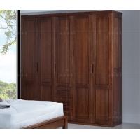 纯榆木实木衣柜 北欧丽木实木家具 工厂定制