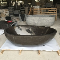 欧式天然石头浴缸 浴盆 大理石浴池 石材洗澡盆 洗澡池卫生间