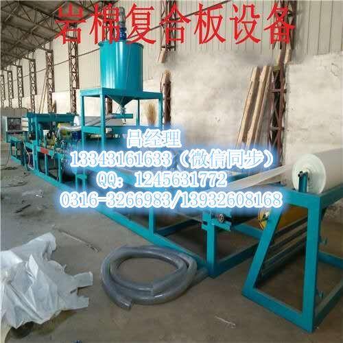 硅质岩棉板设备 轩扬砂浆岩棉板设备
