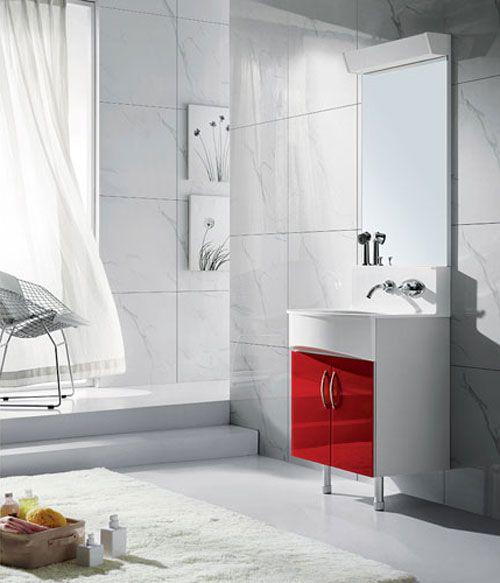 西文卫浴-落地式/镜里浴室柜K60