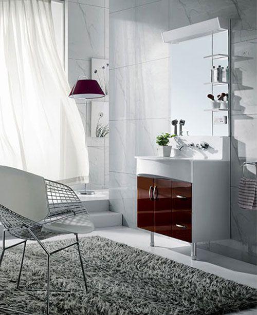 西文卫浴-落地式/镜里浴室柜K80