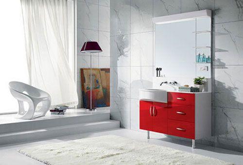 西文卫浴-落地式/镜里浴室柜KA110L