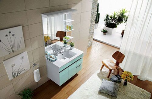 西文卫浴-落地式/镜里浴室柜L-202