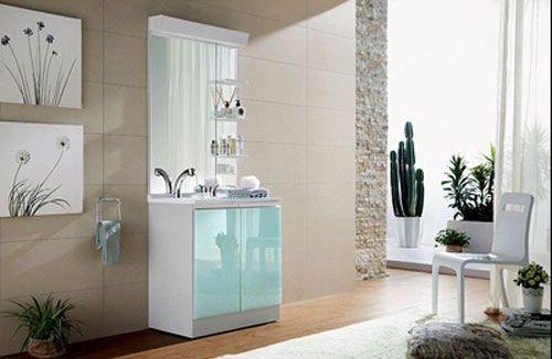 西文卫浴-落地式/镜里浴室柜X2075
