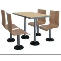 深圳快餐厅桌椅厂|龙岗定做快餐桌椅