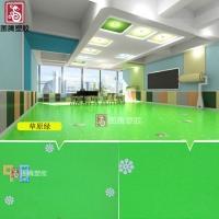 pvc地板 幼儿园室内塑胶地板革 卡通图案地胶加厚防水耐磨环