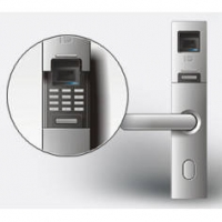 鸿达指纹系列产品-黑贝260欧标指纹插芯锁