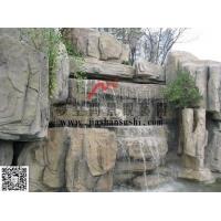 重庆水泥塑石假山及手工驳岸重庆假山瀑布设计