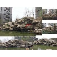 重庆专业水泥龟纹石假山瀑布跌水水景设计施工