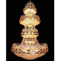 复式楼梯灯长吊灯别墅客厅灯大吊灯酒店工程水晶灯大厅灯圆形灯具
