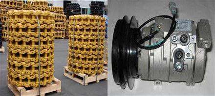 挖掘机链轨总成-挖掘机空调压缩机