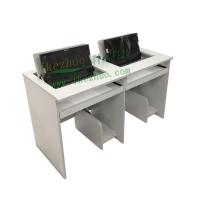 科桌翻转电脑桌 双人翻转桌 机房电脑桌