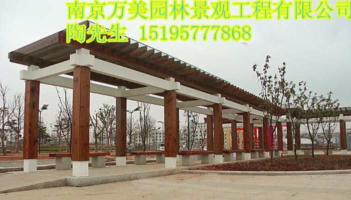 批发防腐木长廊,木长廊价格,木长廊定制