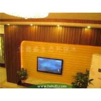 电视背景 幕墙 隔墙生态木墙板效果