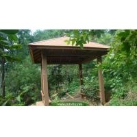 园林 楼盘花园凉亭 木质亭子