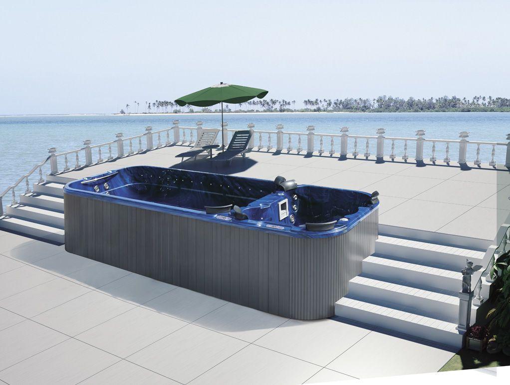 5.7米户外SPA亚克力浴池酒店别墅工程免土建泳池浴缸