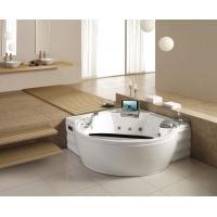 1.83米圆形家用室内豪华双人按摩浴缸带龙头电视冰箱