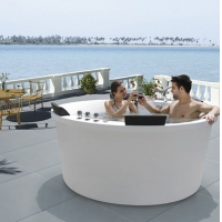 1.83米圆形家用室内双人夫妻鸳鸯浴按摩冲浪亚克力浴缸