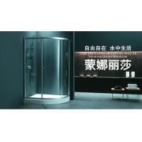 扇形整体淋浴房隔断带置物架家用浴室沐浴冲凉房