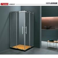 0.9米家用方形整体淋浴房不锈钢浴室隔断门冲凉浴室