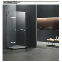 0.9米钻石形不锈钢玻璃淋浴房隔断整体简易家用浴室