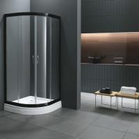 0.9米弧形家用平移式整体淋浴房隔断扇形浴室冲凉房