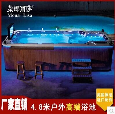 蒙娜丽莎spa 户外大缸 多人按摩浴缸 进口亚克力冲浪浴缸