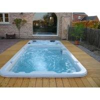 蒙娜丽莎6米户外SPA亚克力按摩大浴池免土建机房泳池浴缸