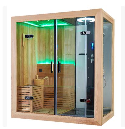 豪华多功能淋浴房干湿蒸桑拿房蒸汽淋浴整体浴室 加拿大香柏木