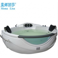 扇形按摩浴缸独立式冲浪浴缸双人1.6亚克力浴缸