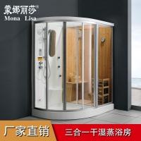 家用汗蒸桑拿房蒸汽房洗澡房 整体淋浴房浴室隔断 进口材质
