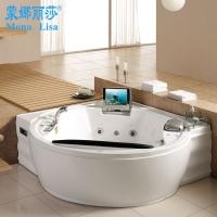正品厂家直销豪华冲浪泡泡浴按摩浴缸 浴池可带DVD电视