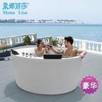 蒙娜丽莎品牌直销 压克力圆形按摩浴缸 多人亚克力冲浪浴池
