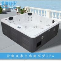 5-6人户外SPA冲浪按摩浴缸美国亚克力带恒温加热  免安装