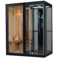 豪华温控整体电脑蒸汽淋浴房蒸汽房湿蒸房 带桑拿干湿蒸